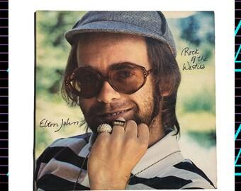 Elton John - Rock of the Westies LP Record, 1975 Vintage Vinyl Record Album, pop rock