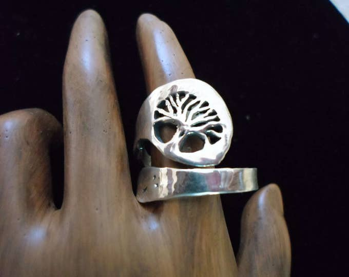 tree spoon ring larger and heavier adjustable