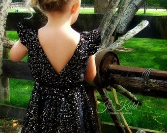 Ayda's V Back Peplum Top & Dress. PDF sewing pattern for toddler girl sizes 2t - 12.