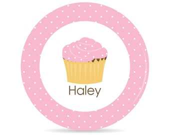 Cupcake Personalized Plate - Melamine