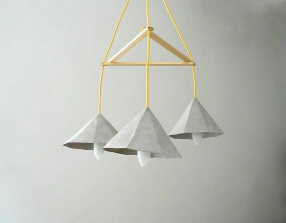 Pappmaché-Lampe Crystals I Lampe Pappmaché Hängelampe