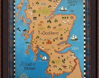 A View of Scotland from an Aeroplane. Tim Campbell's Map of Scotland
