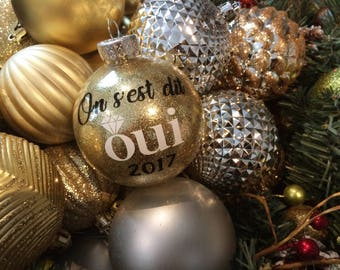 Personalized Christmas ornament, first, tree