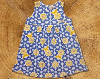 Organic Baby Dress: Blue Butterflies