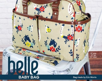 Belle Baby Bag Pattern by Swoon Sewing Patterns; SWN020; Stroller Bag; Diaper Bag; Sewing Pattern