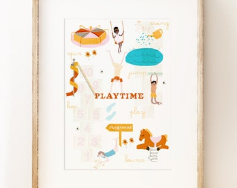 Playtime - children's nursery wall art print