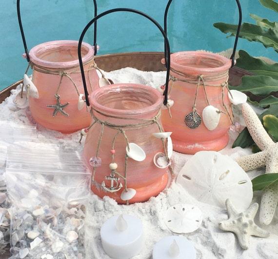 beach wedding candles beach wedding decor seashell candle