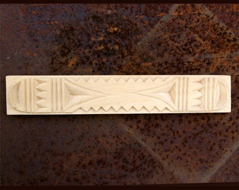 Carved Textile Stamp, African Design, Oshiwa Wood Printing Block, Item 88-12-21