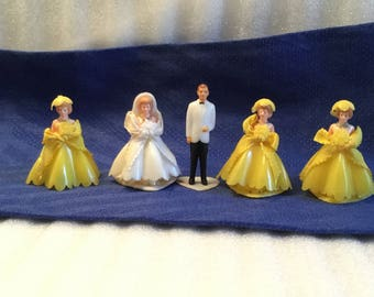 Tiny Plastic Wedding Party, Retro Cake Topper