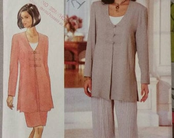 Butterick 3950, size 6-8-10, UNCUT, FACTORY FOLDED, 1990s Jessica Howard pattern, tunic, top, skirt and pants.