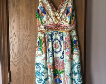 Collette Dinnigan Party Dress 100%silk lined sz 4 Summer dress