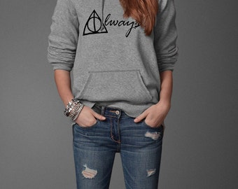 Always Harry Potter Book Movie Inspired Pullover Hoodie Front Print Only
