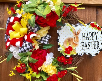 Whimsical Bold  Easter Wreath