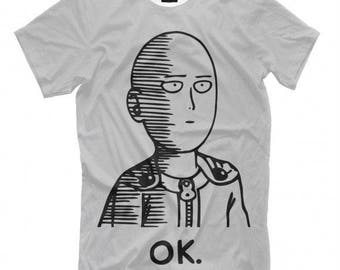 One-Punch Man Anime T-shirt Women's Men's Size