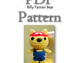 MyLittleZooFriends Series - Billy Farmer Bear (PDF Pattern)