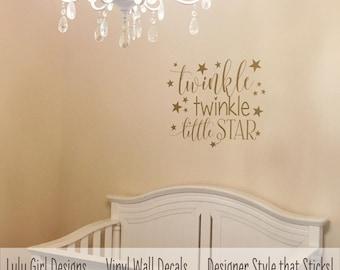 Twinkle Twinkle Little Star Nursery Decor   Star Wall Decals   Twinkle Twinkle Nursery Wall Decal