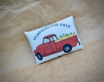 Vintage Red Truck | Pumpkin Truck | Red PIck Up  | Harvest pillow | Pumpkin harvest | Pumpkins for Sale | Fall Decoration | Farmhouse fall