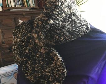 Bow Tie scraf hand knit with Alpaca