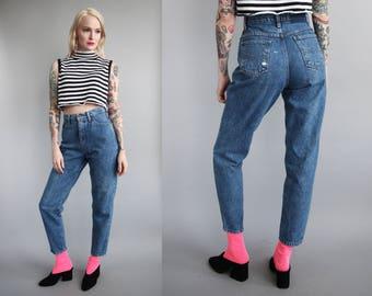 "Vtg 90s Blue Mom Jeans 26"" Waist sz S"