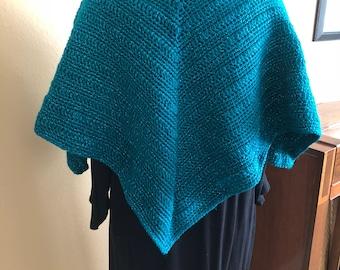 Handmade crochet child's poncho