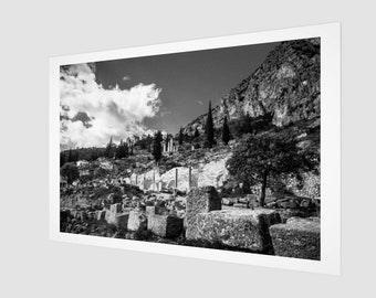 Ruines in Athens Fine Art Print, 1:50 Limited Edition / home decor / decoration / photo / photography / black and white / lux / modern / old