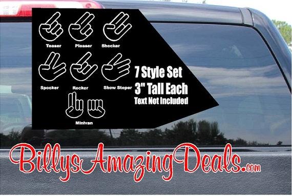 7 3 tall shocker set vinyl decal funny jdm car window