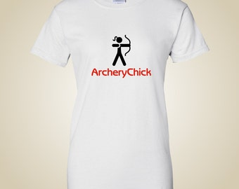 Woman's Archery shirt - Archery Chick logo