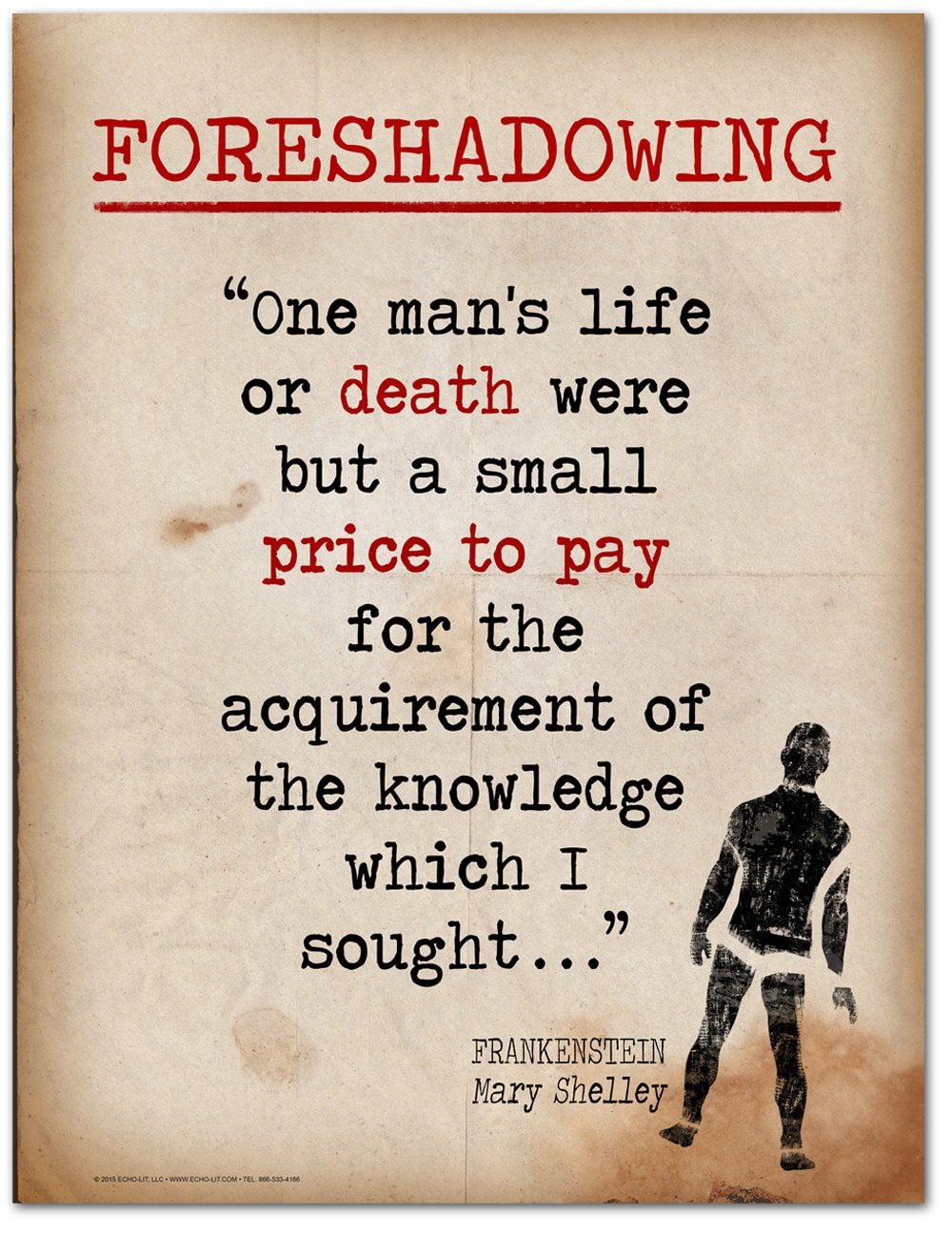 Quotes From Fahrenheit 451 Frankenstein Foreshadowing Quote Educational Art Print