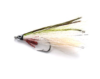 Lefty's Deceiver Green and White Streamer Fly