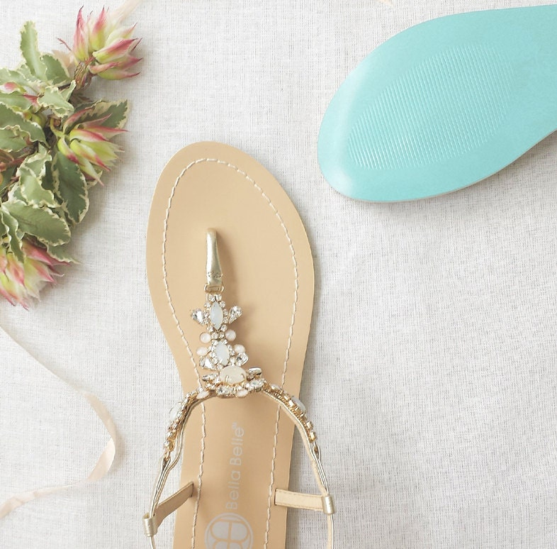 Something blue sole wedding shoes sandals with gold jewel zoom junglespirit Choice Image