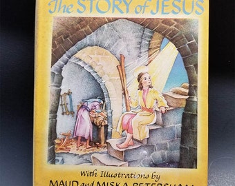 The Story of Jesus A Little New Testament for Catholic Children | 1945 Edition  |  Vintage Catholic Children's Book |  Catholic Children |