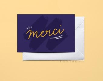 Merci (Thank You) Card - 10 x 15 cm
