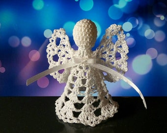 Lace Angel Christmas Angel chrochet ornament Christmas tree ornament angel, Buy more&save