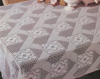 Table Cloth PDF Crochet Pattern : Tablecloth . Table Cover . Instant Digital Download