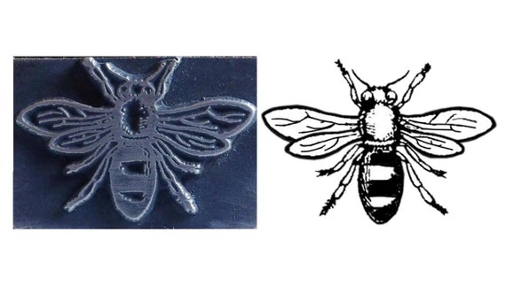 Bee Stamp Inspired Printing Stamp From Ringostampart On