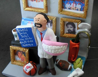 Custom Dental Office Art - Custom Made Dentist Gift- Dental Figurine - Personalized Dentist Present, Periodontist Graduation Gift