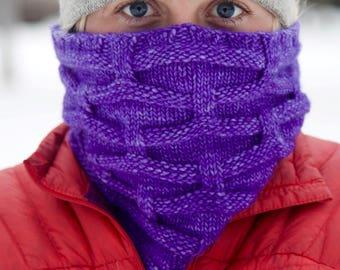 Cowl Knitting Pattern, PDF, Knitted cowl pattern, knit cowl pattern, warm knitted cowl pattern, knit cowl,  Warm Weave Cowl knitting pattern