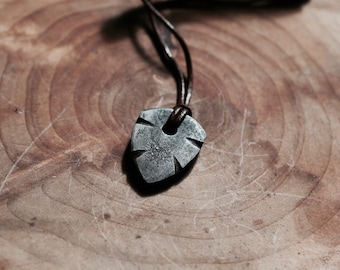 Hand Forged Guitar Pick Pendant - Cross - Blacksmith Made