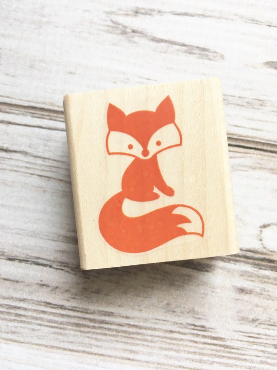 Fox Rubber Stamp - Forest Critter Woodland Animal Stamp