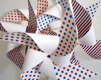 July 4th Decorations 4th of July Favors July 4th Table Centerpiece 4th of July Decorations Pinwheels Fourth of July Decor Patriotic Stars