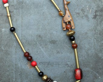 ORISA beaded statement necklace - one of a kind