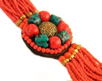 Chunky Vintage Tribal Bracelet