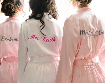 embroidered bathrobe whoesae personalised bathrobes for babies custom  bridesmaids satin robes brides