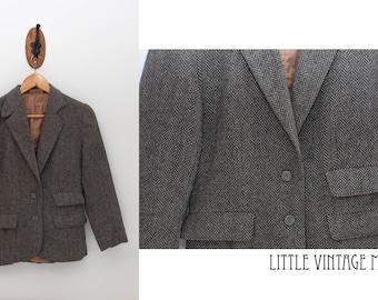 Tweed Wool Vintage Dress Coat