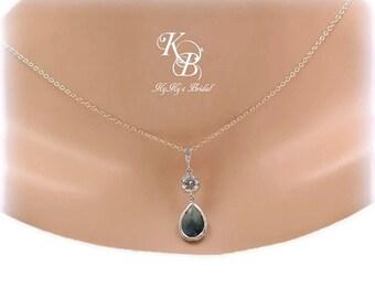 Something Blue Necklace, Something Blue, Sapphire Necklace, Blue Necklace, Wedding Jewelry, Sapphire Jewelry, Prom Jewelry, Bridal Necklace