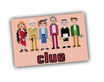 Clue Board Game Cross Stitch Pattern