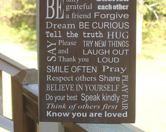 Family Rules, Family Rules Sign, House Rules, House Rules Sign, Housewarming Gift, Subway Art, Custom Family Rules, Family Values