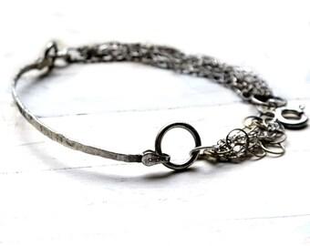 Handmade Sterling Silver Bracelet, modern bracelet, everyday bracelet