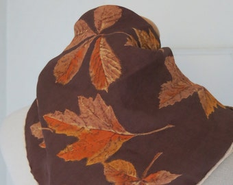 Autumn leaves Vintage scarf