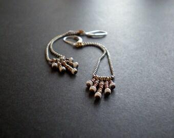 Long Chain Earrings Mini Fringe  - dorijenn - Sexy Swinging Earrings - Everyday Wear Jewelry - Choose Length - Sterling Ear Wire - Gift Idea